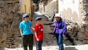 The Inca town of Ollantaytambo